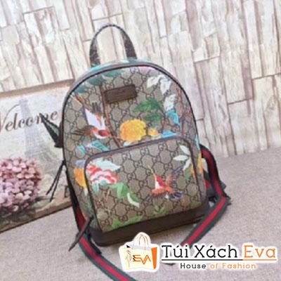 Balo Gucci Supreme Backpack Siêu Cấp Viền Nâu 427042