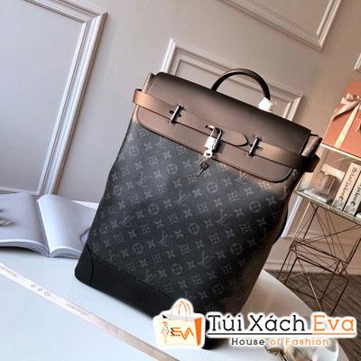 Balo Lv Backpack Siêu Cấp Hoa Đen Ổ Khóa