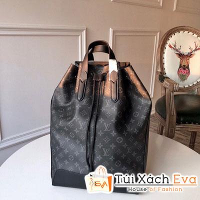 Balo Lv Backpack Siêu Cấp Hoa Đen Rút
