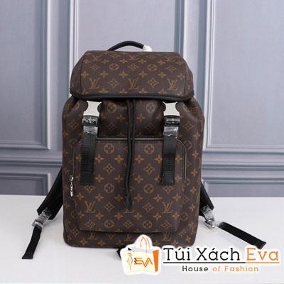 Balo Lv Backpack Siêu Cấp Hoa Nâu Sz 45 Cm M443422