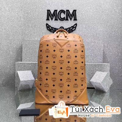 Balo Mcm Nam Duke Nappa Super Dáng Cao Màu Nâu