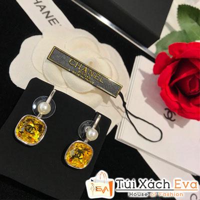 Bông Tai Chanel Super Đá Vàng