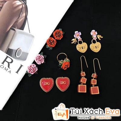 Bông Tai Dolce&Gabbana Hoa Hồng Super