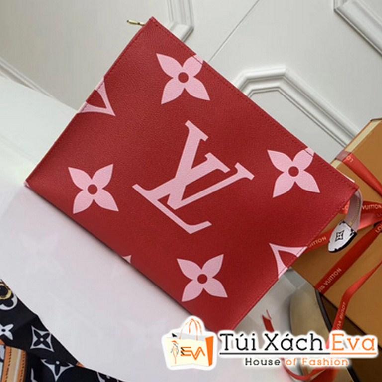 Cluth Lv Toilet Pouch Xl Siêu Cấp Màu Đỏ M67692