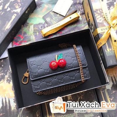 Cluth Gucci Siêu Cấp Cherry Màu Đen