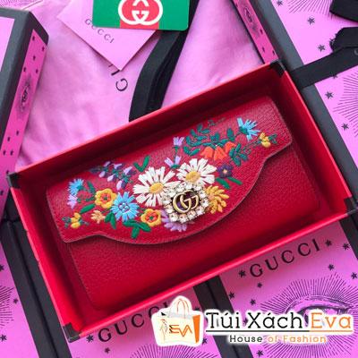 Cluth Gucci Siêu Cấp Nắp Gập Màu Đỏ