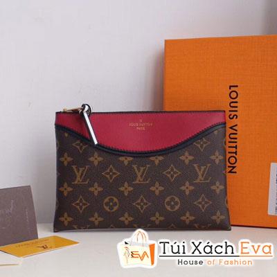 Cluth Lv Pochette Tuileries  Siêu Cấp Hoa Nâu Màu Đỏ Đô Khoá Kéo M63936