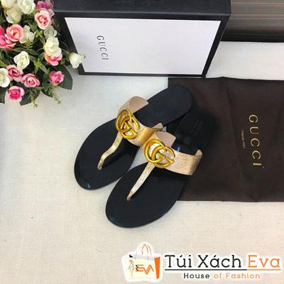 Dép Gucci Super Màu Vàng