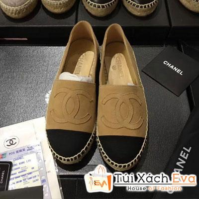 Giày Bata Chanel Super Màu Nâu Nhung