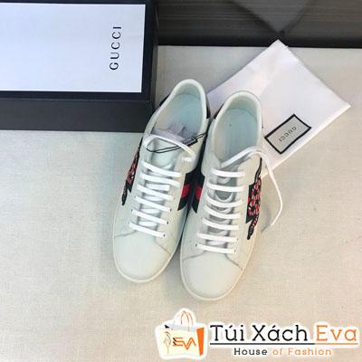 Giày Bata Gucci Nam Super Thiêu Hình Con Rắn