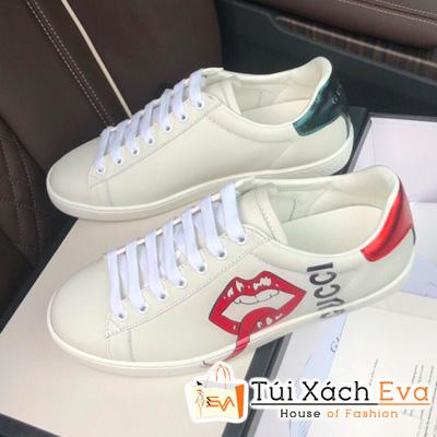 Giày Bata Gucci Super Môi  Màu Trắng