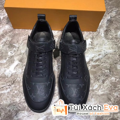 Giày Bata Lv Super Hoa Đen Nam