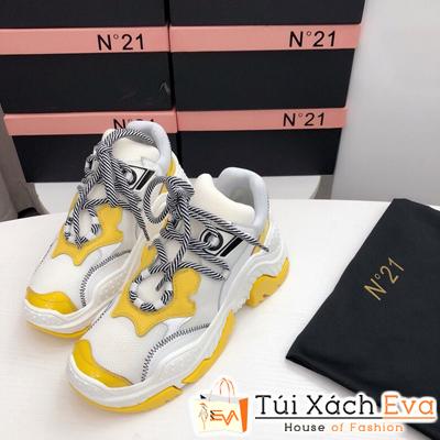 Giày balenciaga Bata N ° 21 Super Màu Trắng Vàng