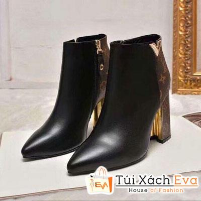 Giày Boot Lv Super Khóa Dây Kéo