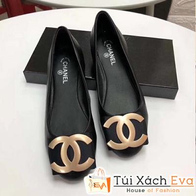 Giày Búp Bê Chanel Super Màu Đen