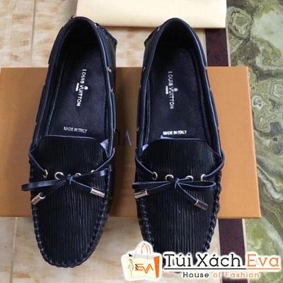 Giày Búp Bê Lv Super Màu Đen