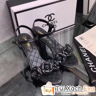 Giày Cao Gót Chanel Super Quai Ngang Màu Đen