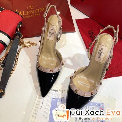 Giày Cao Gót Valentino Siêu Cấp Màu Đen