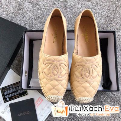 Giày Chanel Super Da Lì Màu Kem