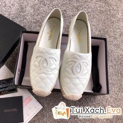 Giày Chanel Super Da Lì Màu Trắng