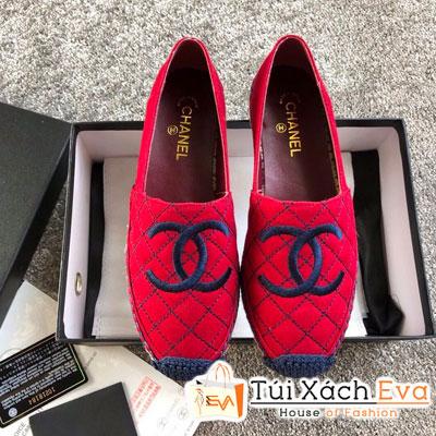 Giày Chanel Super Vải Màu Đỏ