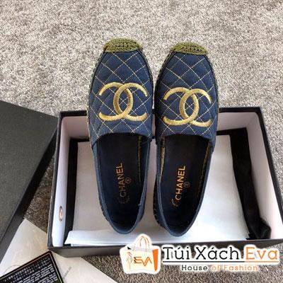 Giày Chanel Super Vải Màu Xanh Đen