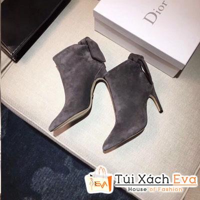 Giày Dior Boot Siêu Cấp Vải Nhung