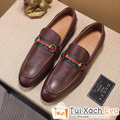 Giày Gucci Nam Da Bò Màu Nâu