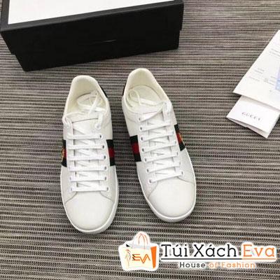 Giày Gucci Sneaker Siêu Cấp Thiêu Hình Màu Trắng