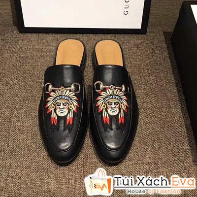Giày Gucci Super 2018 In Hình Mặt Người Dân Tộc