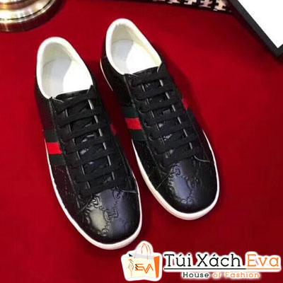 Giày Gucci Super Da Nổi Màu Đen