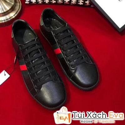 Giày Gucci Super Da Trơn  Màu Đen