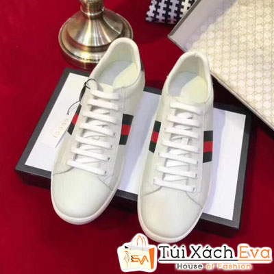 Giày Gucci Super Da Trơn  Màu Trắng