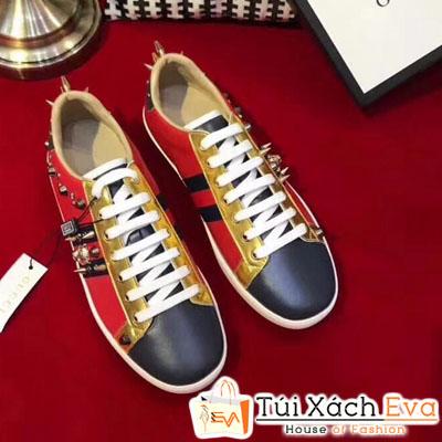 Giày Gucci Super Đính Đinh Màu Đỏ