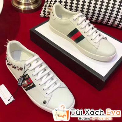 Giày Gucci Super Đính Đinh Màu Trắng