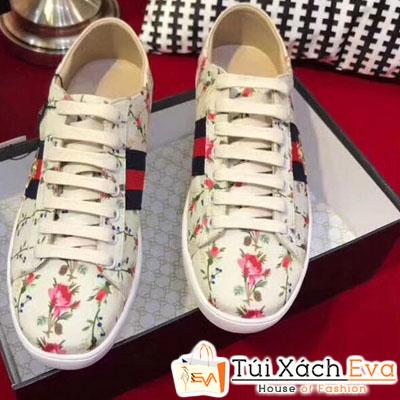Giày Gucci Super Hoa Văn Thiêu Hình Con Ong
