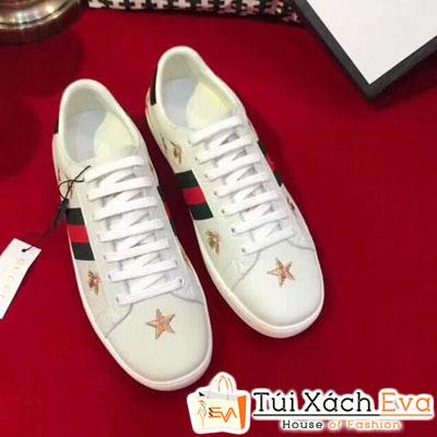 Giày Gucci Super In Hình Ngôi Sao Màu Trắng