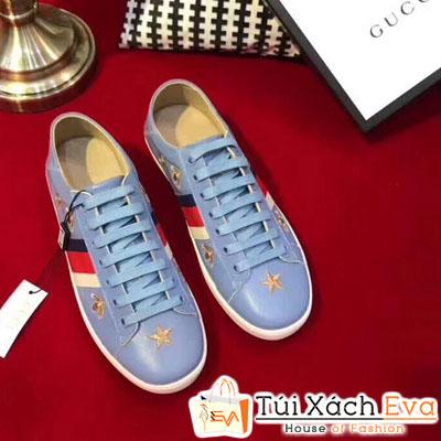 Giày Gucci Super In Hình Ngôi Sao Màu Xanh Dương