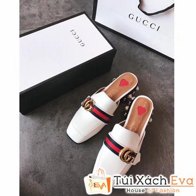 Giày Gucci Super Màu Trắng Viền Đỏ