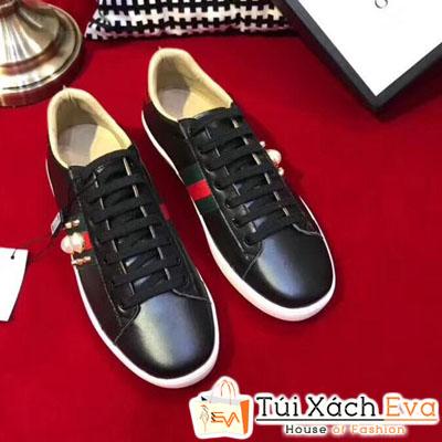 Giày Gucci Super Ngọc Trai Màu Đen
