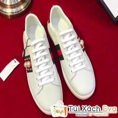 Giày Gucci Super Ngọc Trai Màu Trắng