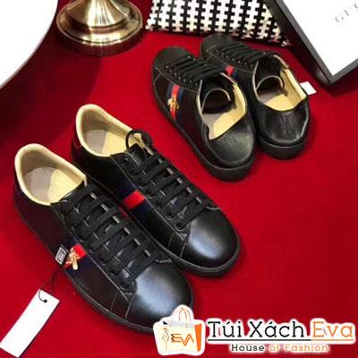 Giày Gucci Super Thiêu Hình Con Ong Màu Đen