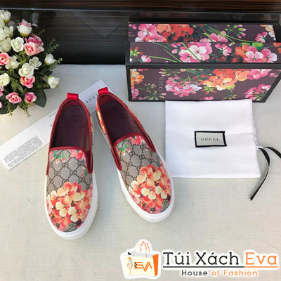 Giày Lười Gucci Super Hoa Văn