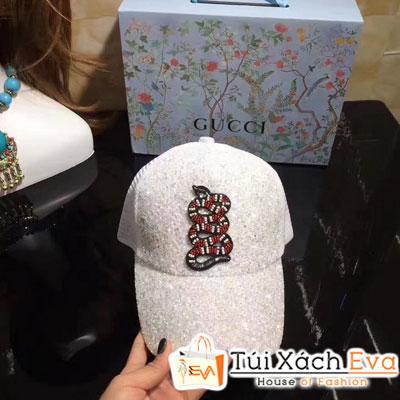 Mũ Gucci Super Hình Rắn Màu Trắng Đẹp