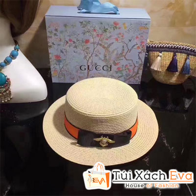 Mũ Vành Gucci Super Kem Viền Cam Đẹp