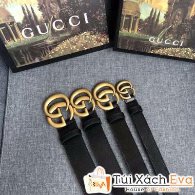 Thắt Lưng Gucci Super Logo Vàng Đen Đẹp