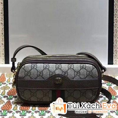 Túi Gucci Ophidia Mini GG Shoulder Bag Siêu Cấp Đeo Bụng Màu Nâu 546597
