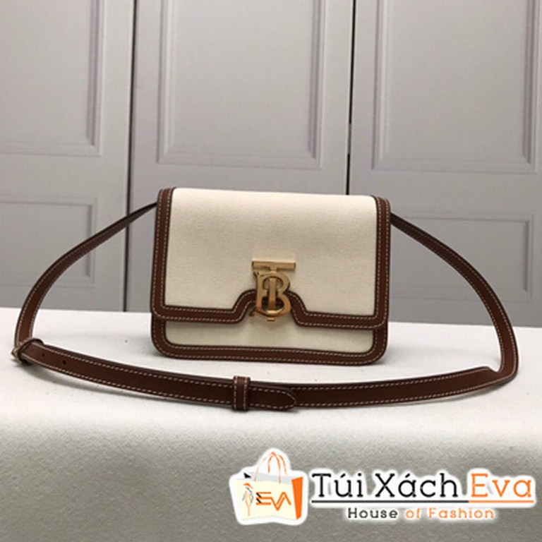 Túi Xách Burberry Small Painted Edge Leather TB Bag Màu Trắng