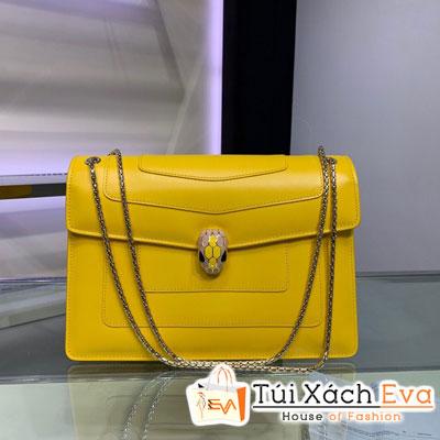 Túi Xách Bvlgari Siêu Cấp Màu Vàng Sz 28cm