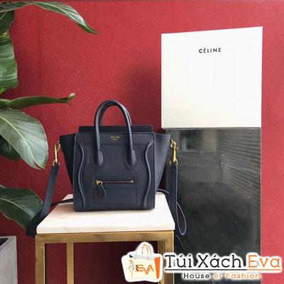 Túi Xách Celine Siêu Cấp Nano Luggage Màu Đen